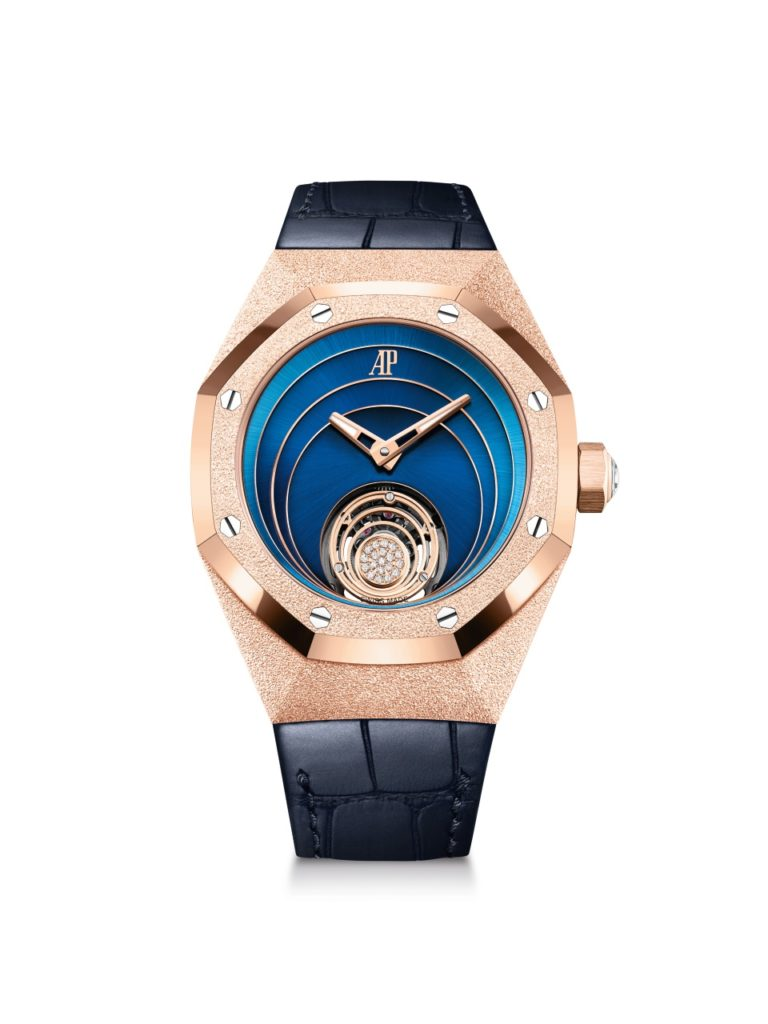 Perfect Audemars Piguet Launched New Royal Oak Concept Frosted Gold Flying Tourbillon Replica Watches